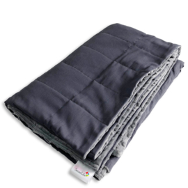 Weighted blanket 120 x 180 cm  | Elegant |  Grey - dark