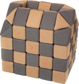 Magnetische blokken JollyHeap® - bruin/donkergrijs