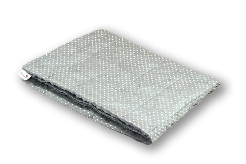 Gewichtsdecken 200 x 200 cm | Pünktchen Grau