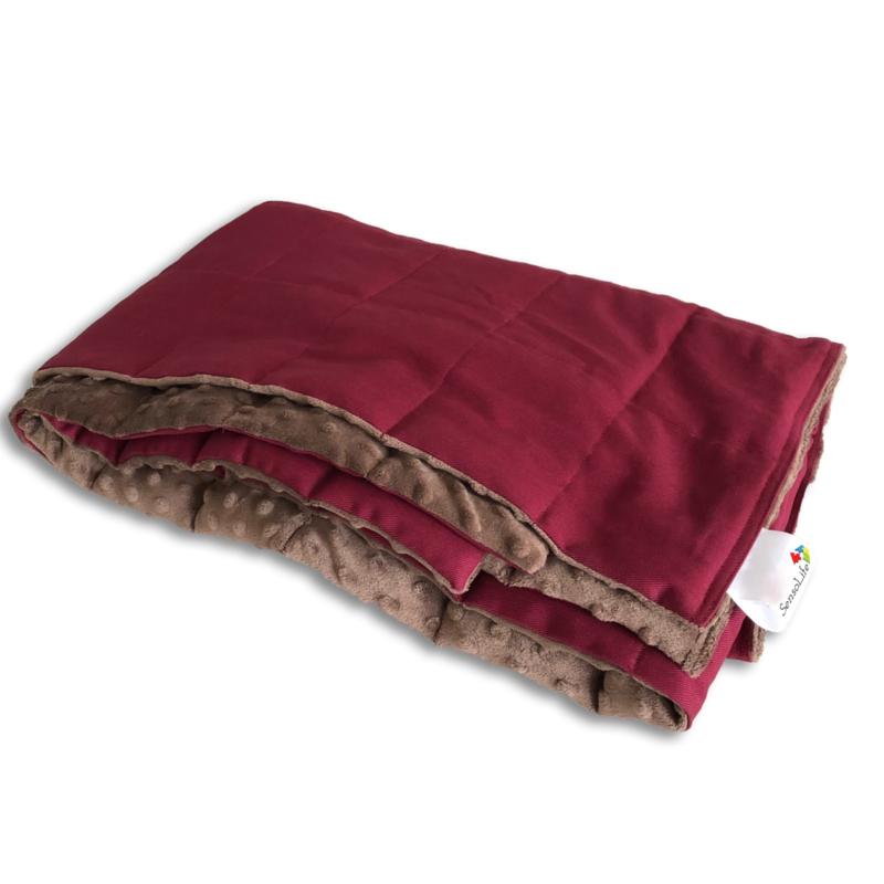 Verzwaringsdeken | Elegant | Rood Kers 100 x 150 cm