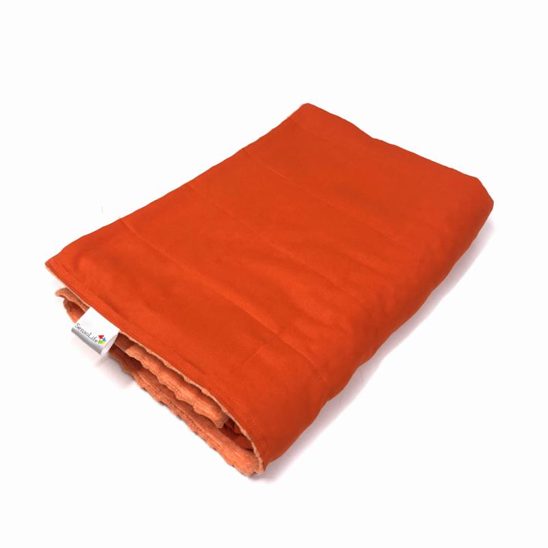 Verzwaringsdeken   Elegant   Oranje 90 x 120 cm