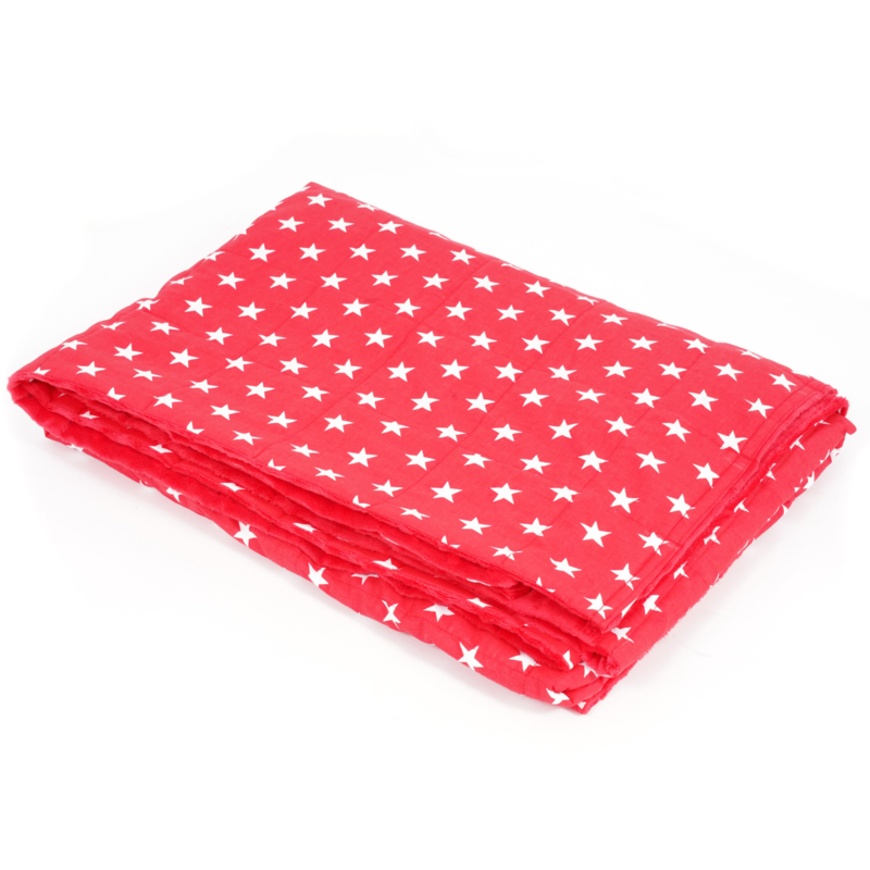 Weighted blanket | FUN | Stars red 200 x 200 cm