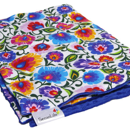 Weighted blanket | FUN |  Flowers 120 x 180 cm