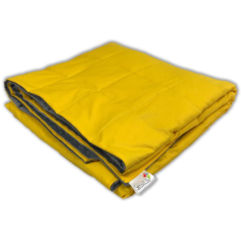 Gewichtsdecke 100  x 135 cm | Elegant | Gelb