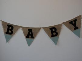 Vlaggenlijn baby mint