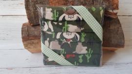 Billendoekjes konijn groen