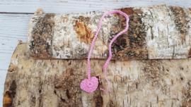 Navelveter roze hart