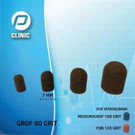 Slijpkapje / Schuurkapjes Rond 7 mm Kunststof Bruin 80 Grit ( Grof )
