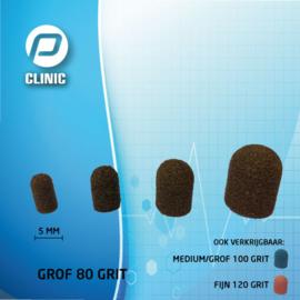 Slijpkapje / Schuurkapjes Rond 5 mm Kunststof Bruin 80 Grit ( Grof )