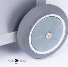 PodoMobile Maxi Pedicure Trolley Brush Silver