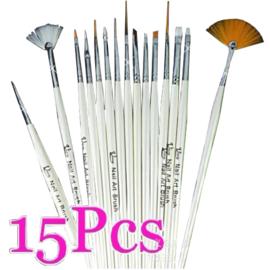 15 Delig Nail Art Penselen Set