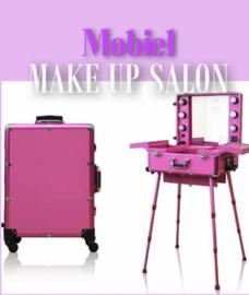 Mobiele Visagie Tafel Hot Pink