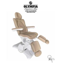 Behandelstoel met gedeelde beendelen Royal Cappuccino Bruin