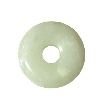 Jade Oogsteen Rond met Gat 4 cm