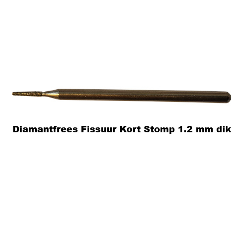 Diamant Frees Fissuur Kort Stomp 1.2 mm