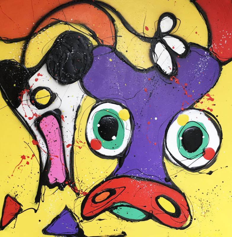 Crazy cow yellow