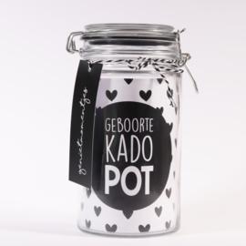 GEBOORTE KADO POT JONGEN