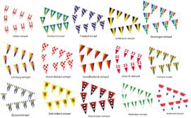Provincie vlaggenlijn 10 meter lang met 24 wimpels