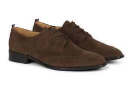 Gentleberg Kobus – Wing Tip Derby Brown Suede Vegan Leather Shoes