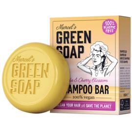 Marcel's Green Soap : Shampoo Bar Vanille & Kersenbloesem 90g - Plasticvrij - Vegan - Biologisch Afbreekbaar