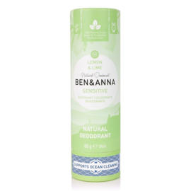 Ben & Anna Sensitive Lemon & lime Organic Vegan Plastic Free deodorant