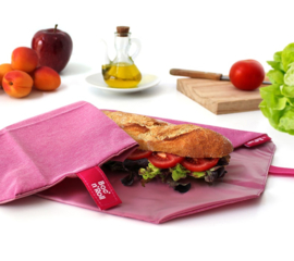 Eco Boc'n'Roll roze herbruikbare lunchverpakking van Roll'eat