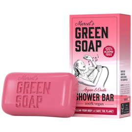 Marcel's Green Soap : Shower Bar Argan & Oudh 150g - Plasticvrij - Vegan - Biologisch Afbreekbaar