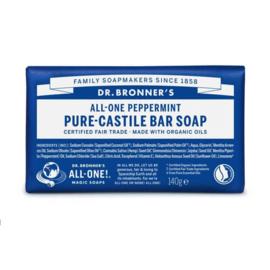 Dr. Bronner's Peppermint Organic Fair Trade Plastic Free Soapbar 140g