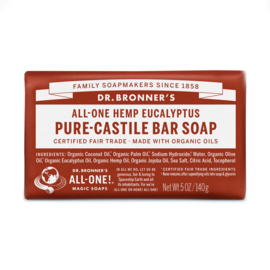 Dr. Bronner's Eucalyptus Organic Fair Trade Plastic Free Soapbar 140g