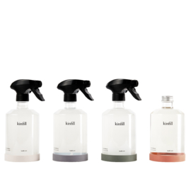 Kinfill Homecare : Full House Collection Set | Biodegradable Eco Vegan Low Waste Glas Bottle Cleaning Products