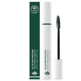 PHB Ethical Beauty : All in One Natural Waterproof Mascara Zwart 9 gram - Vegan - Biologisch - Halal