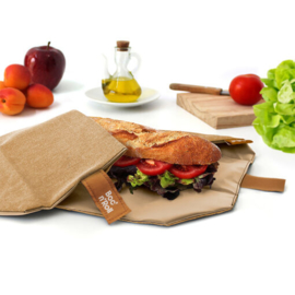 Boc'n'Roll : Roll'eat Nature Bruin - Herbruikbaar - Uitwasbaar - Eco - Lunchverpakking