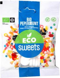 Eco Sweets : Pepermunt 75gr - Vegan - Biologisch - Plasticvrij