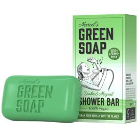 Marcel's Green Soap : Shower Bar Tonka & Muguet 150g - Plasticvrij - Vegan - Biologisch Afbreekbaar