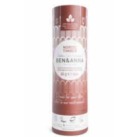 Ben & Anna : Deodorant Nordic Timber 60 Gram - Biologisch - Vegan - Plasticvrij