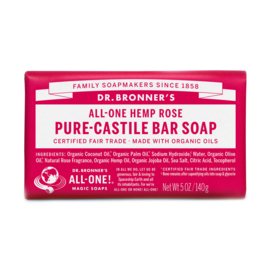 Dr. Bronner's Rose Organic Fair Trade Plastic Free Soapbar 140g