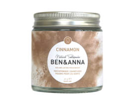 Ben & Anna Cinnamon Toothpowder 45g Natural Vegan Plastic Free
