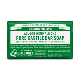 Dr. Bronner's Almond Organic Fair Trade Plastic Free Soapbar 140g