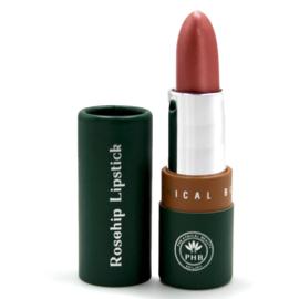PHB Ethical Beauty : Satin Sheen - Rosehip - Lippenstift Tea Rose 10 gram - Vegan - Biologisch - Halal