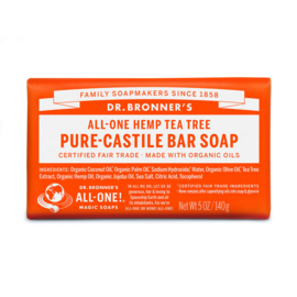 Dr. Bronner's Tea Tree Organic Fair Trade Plastic Free Soapbar 140g