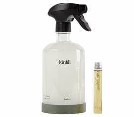 Kinfill Homecare : Multi Surface Schoonmaakmiddel Spray Set met 1 glazen sprayfles en 1 elixer 10ml - Biologisch Afbreekbaar  - Eco - Vegan - Hervulbaar