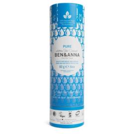Ben & Anna Pure Geurloze 60 Gram Organic Vegan Plastic Free deodorant