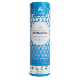 Ben & Anna : Deodorant Pure Geurloos 60 Gram - Biologisch - Vegan - Plasticvrij