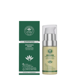 PHB Ethical Beauty : Superfood Brightening 2-in-1 Face & Eye Serum 30ml - Vegan - Biologisch - Halal