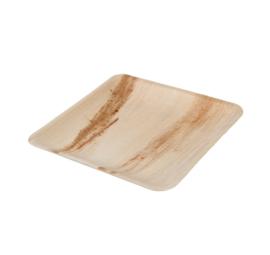 Palmware® : vierkant palmblad bord 20 x 20 cm - Biologisch afbreekbaar - Fair Trade - Ecologische