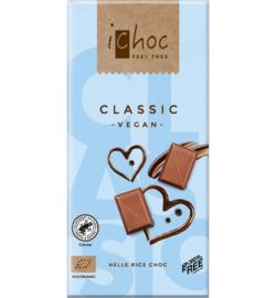 iCHOC : Melk Chocolade Classic 80gr - Vegan - Biologisch - Plasticvrij