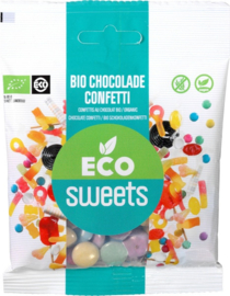 Eco Sweets : Chocolade Confetti 60gr - Vegan - Biologisch - Plasticvrij