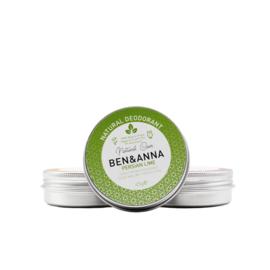Ben & Anna : Deodorant Crème in blikje Persian Lime 45 gram - Biologisch - Vegan - Plasticvrij