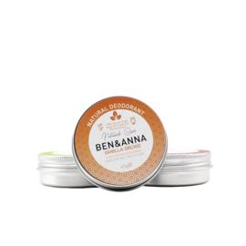 Ben & Anna : Deodorant Crème in blikje Vanilla Orchid 45 gram - Biologisch - Vegan - Plasticvrij