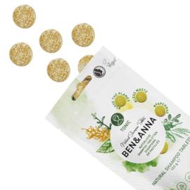 Ben & Anna : Shampoo Tablets Tonic 120g / 24 stuks - Natuurlijk - Vegan - Plasticvrij